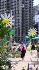 Toyota Prius Solar Flowers near ManhattanVirtualOffice