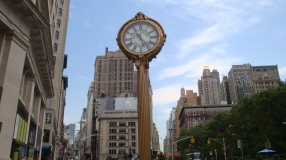Fifth Avenue Building clock Flatiron district Manhattan Virtual Office