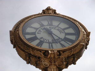Fifth Avenue Building Clock near Manhattan Virtual Office