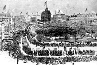 First Labor Day Parade - Union Square NYC 1882