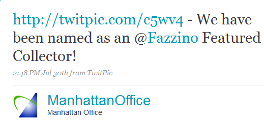 Manhattan Virtual Office Featured Fazzino Collector Tweet