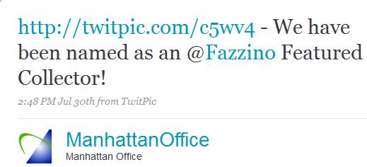 Manhattan Virtual Office Featured Fazzino Collector Tweet