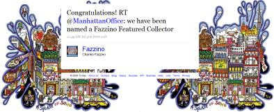 Tweet from Fazzino to VH International Business Solutions