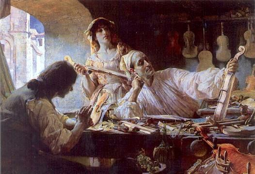 Edgar Bundy Painting of Antonio Stradivari 1893