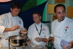 Barilla America Corporate Chef Lorenzo Boni, Barilla USA Chef Assistant Yury Krasilovsky, Chef Edmondo Sarti of Pasta Pomodoro