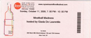 Meatball Madness Ticket