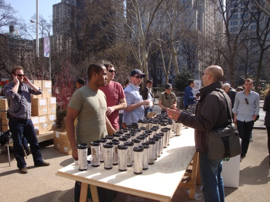 Starbucks Promo in the Flatiron Pedestrian Plaza (4)