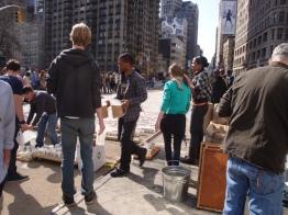 Starbucks Promo in the Flatiron Pedestrian Plaza (5)