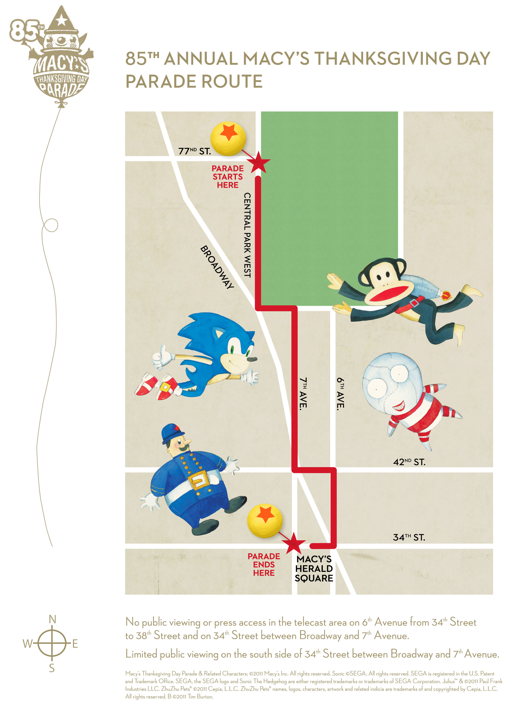 Macy S Thanksgiving Day Parade Route Map 2011 Nyc Virtual Office