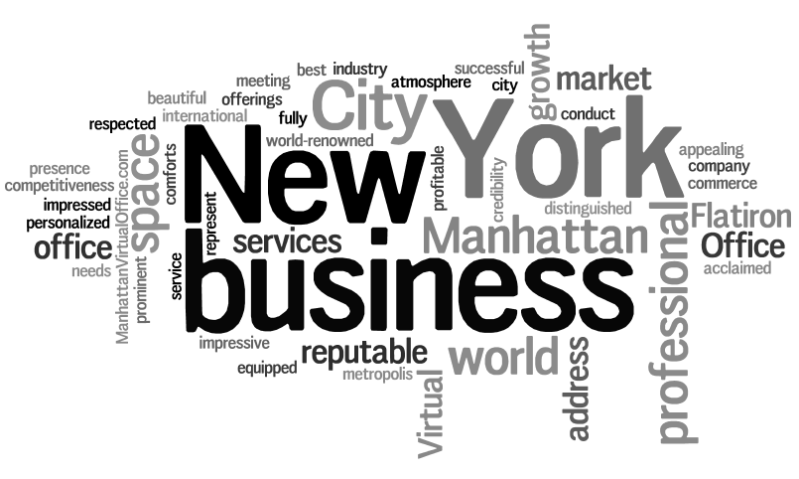 Manhattan Virtual Office Word Cloud About Us 5