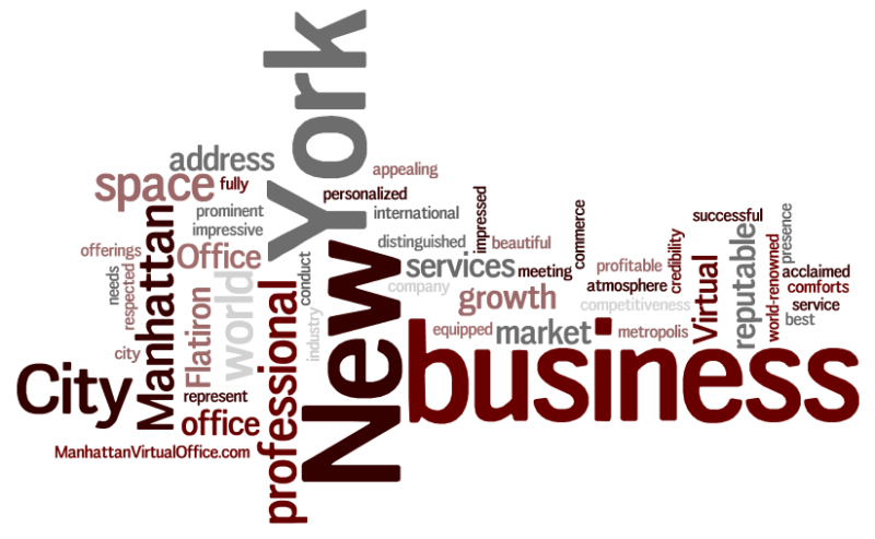 Manhattan Virtual Office Word Cloud About Us 7