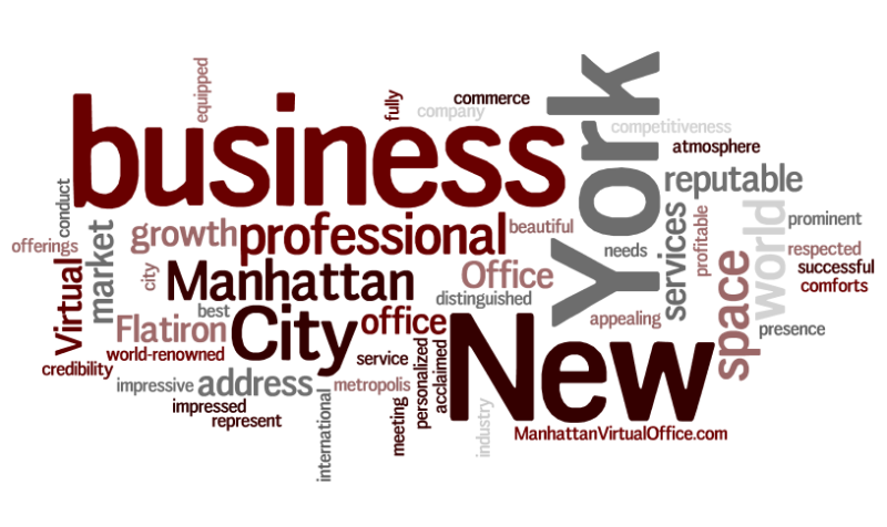 Manhattan Virtual Office Word Cloud About Us 6