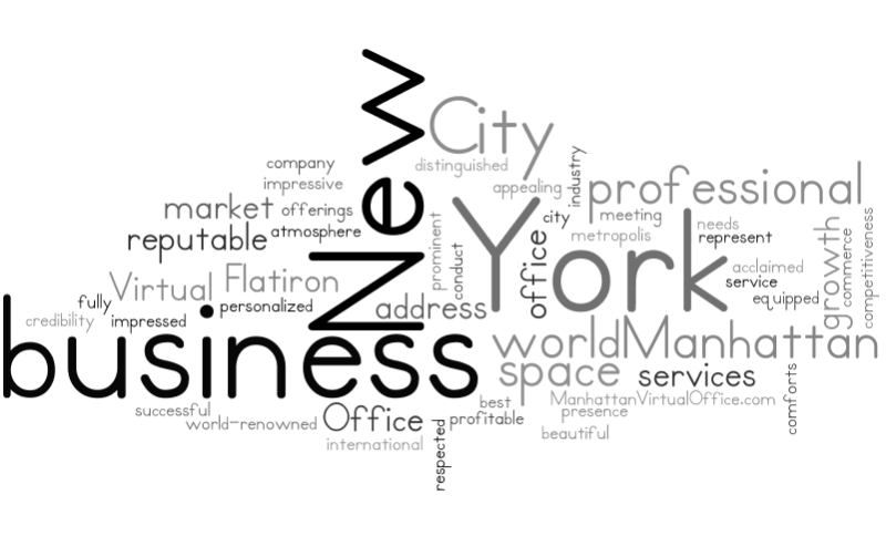 Manhattan Virtual Office Word Cloud About Us 4