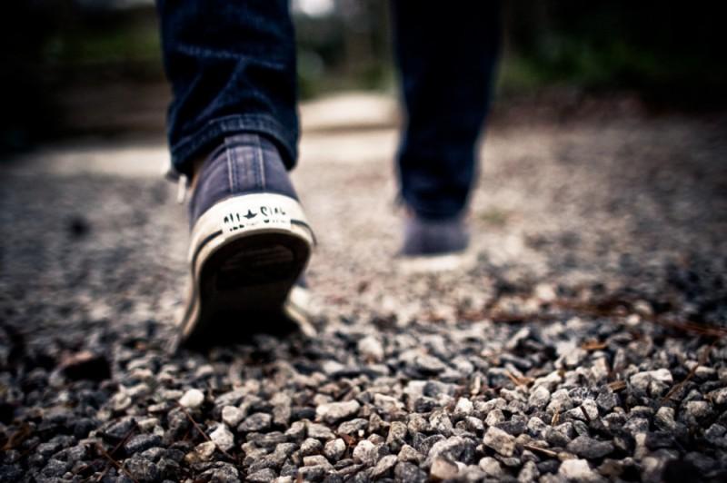 Shoes Walking Feet Grey Gravel Blue Jeans.jpg